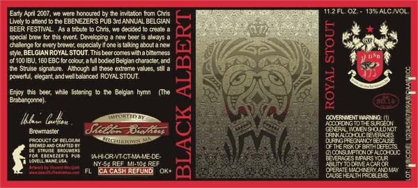 Struise Black Albert - Courtesy of De Struise Brouwers and Ebenezer\'s Pub