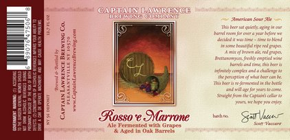 Captain Rosso e Marrone - courtesy of Captain Lawrence Brewing