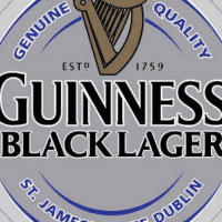 Guinness Black Lager label