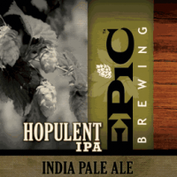 epic hopulent ipa label