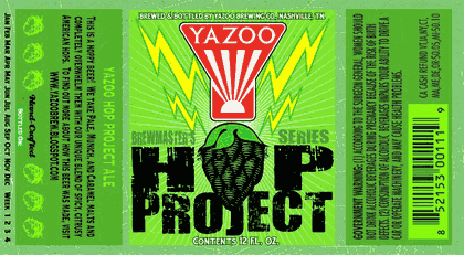 yazoo hop project Yazoo (910 division st) has been around since 2003, making it one of nashville's first craft breweries since that time, the brew masters have had the opportunity to perfect a number of recipes, including the hop project ipa brewed in the traditional style of an ipa, hop project uses a blend of spicy and.