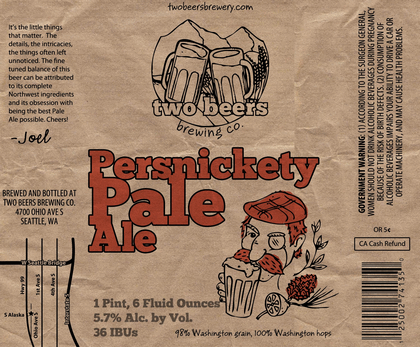 Two Beers Persnickety Pale Ale