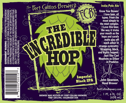 Incredible Hop Label
