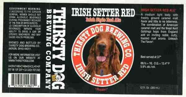 Beer labels: New Belgium, Thirsty Dog, Squatter's, Foggy Noggin