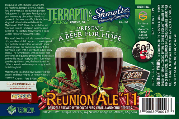 reunion ale label