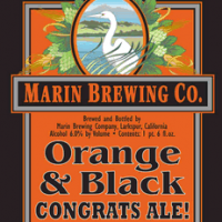 Marin Orange and Black Congrats Ale label
