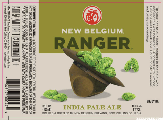 New Belgium's new Ranger IPA, Shift Pale Lager and 1554 Black Lager labels revealed