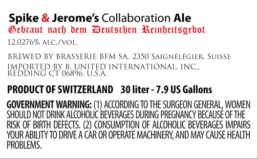 Spike and Jerome's Collaboration Ale