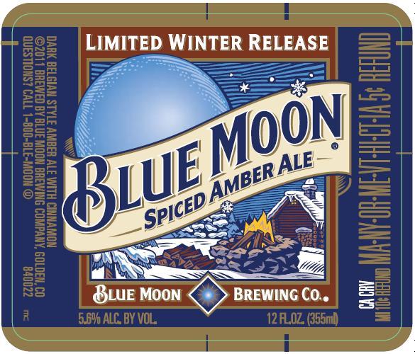 Blue Moon New Design Beer