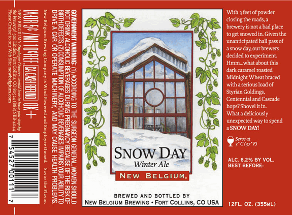 snow day label