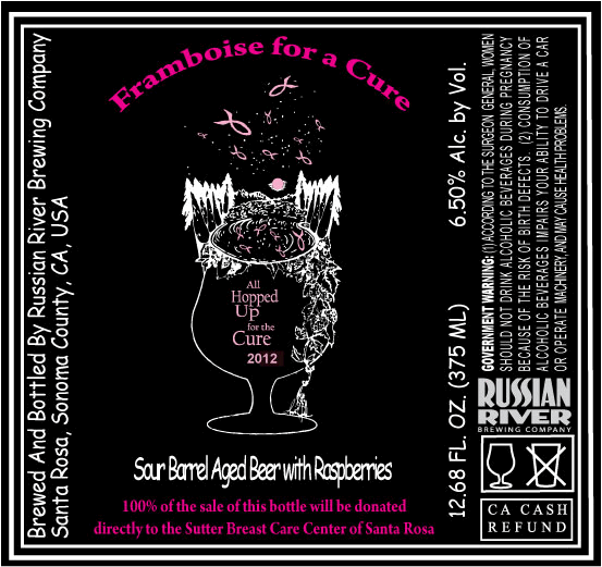 Russian River Framboise For A Cure Goes Draft Growler