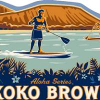 Kona Koko Brown Ale label