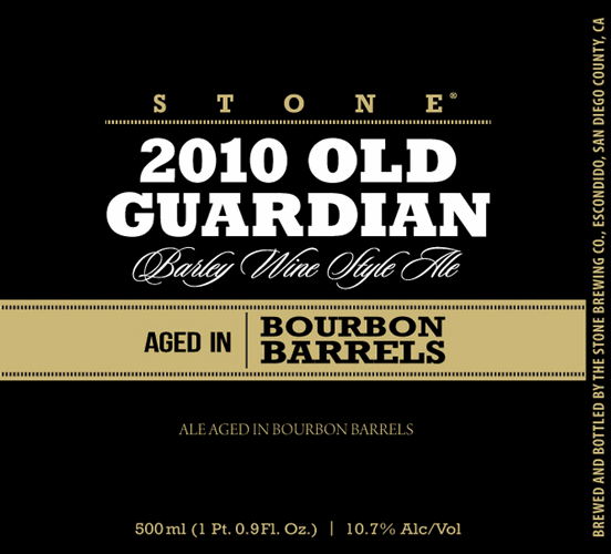 Stone 2010 Old Guardian aged in Bourbon Barrels