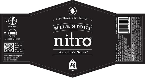 Left Hand Nitro Milk Stout label