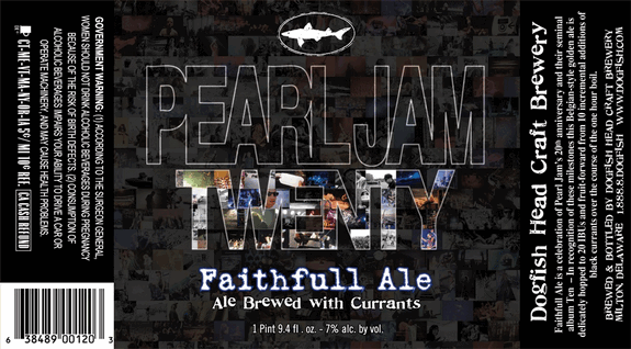 dogfish head pearl jam faithfull ale