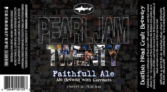 dogfish head pearl jam faithfull ale