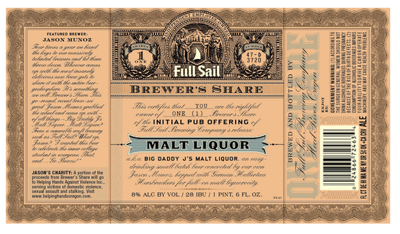 Full Sail Brewers Share Malt Liquor