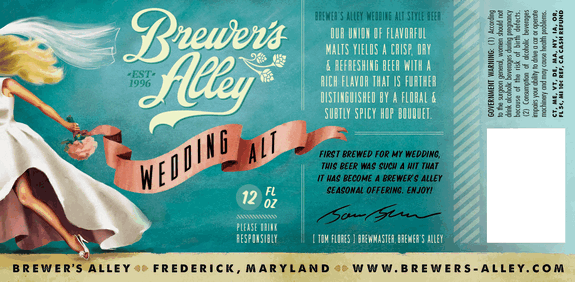 Brewer 39 s alley wedding alt debuts in maryland beerpulse for Craft store frederick md