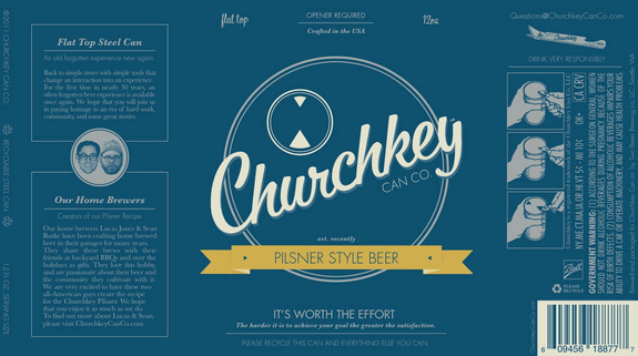 Churchkey Pilsner label