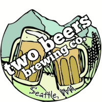 two beers brewing logo