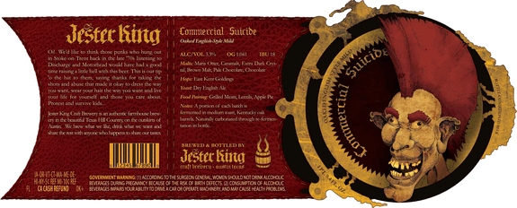 Jester King Commercial Suicide label
