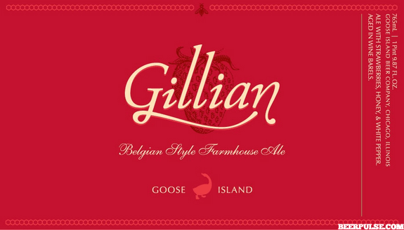 Goose Island Gillian Farmhouse Ale label