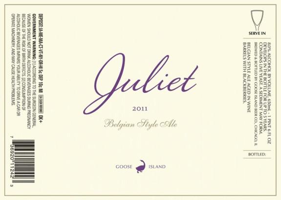 Goose Island Juliet Belgian Ale