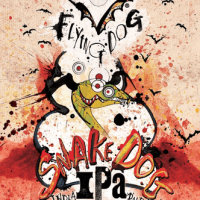 Flying Dog Snake Dog IPA label