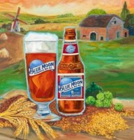 blue moon farmhouse red artwork