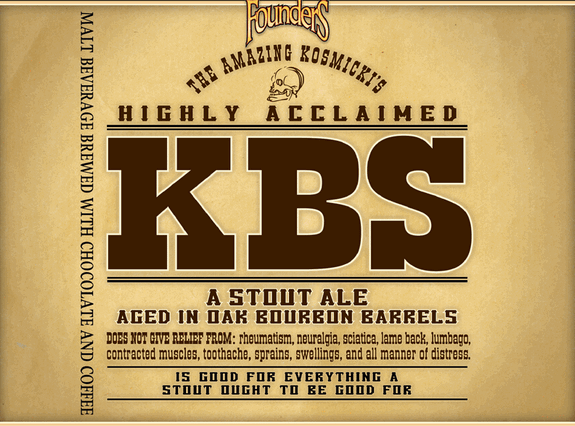 founders kbs kentucky breakfast stout label