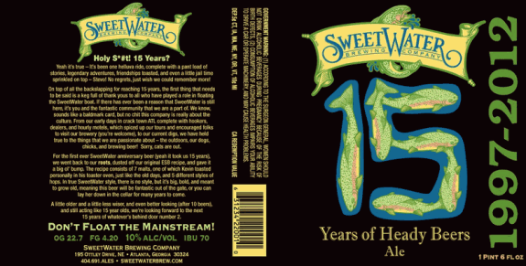 sweetwater 15 years of heady beers ale