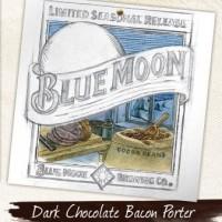 blue moon dark chocolate bacon porter label