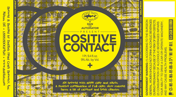 dogfish head positive contact bottle label