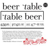 Stillwater Artisanal Beer Table Table Beer