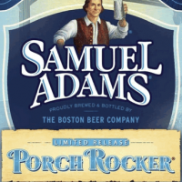 Samuel Adams Porch Rocker label