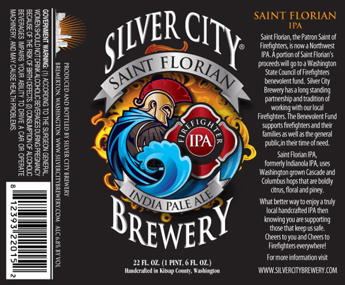 Silver City Saint Florian India Pale Ale label