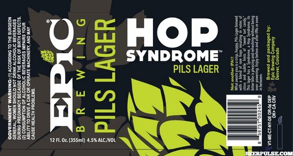 Epic Hop Syndrome Pils Lager label