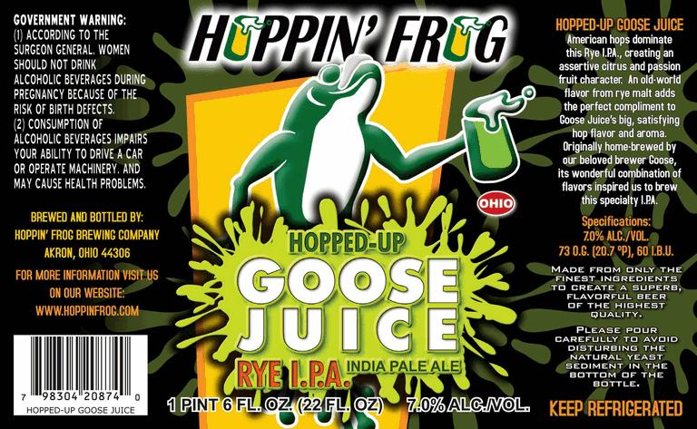 Hoppin Frog Hopped Up Goose Juice Rye Ipa Beerpulse