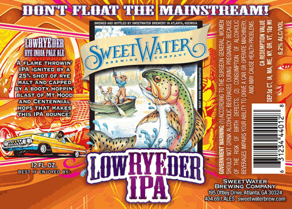 SweetWater LowRYEder IPA