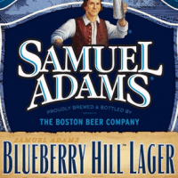 Samuel Adams Blueberry hill lager body label