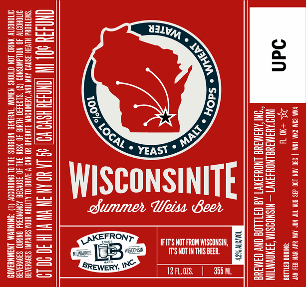 Lakefront Wisconsinite Summer Weiss Beer