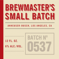 Anheuser-Busch Brewmaster's Small Batch No. 0537