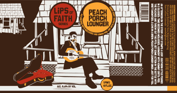 New Belgium Peach Porch Lounger Ale G. Love