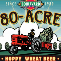 Boulevard 80-acre hoppy wheat beer label