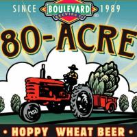 Boulevard 80-acre hoppy wheat beer label