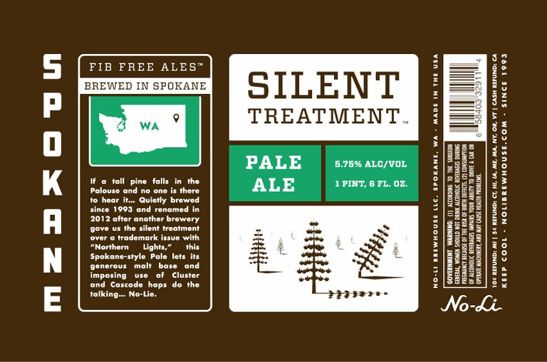 No-Li Silent Treatment bottle label