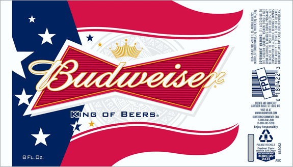 Budweiser Patriotic beer can