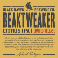 Black Raven BeakTweaker Citrus IPA label