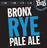 Bronx rye pale ale label