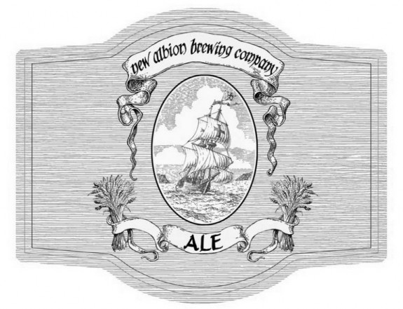 new albion brewing label